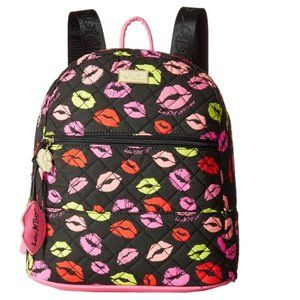 Betsey Johnson LIPS QUILTED BACKPACK